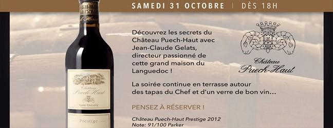 Dégustation Vins du Languedoc – Sam 31 oct dès 18h