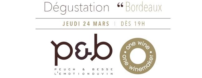 Dégustation Bordeaux jeudi 24 mars