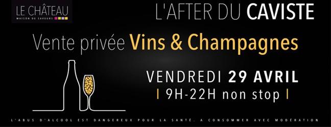 Vente privée Vins & Champagnes Ven 29 avril