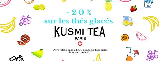 Les thés glacés Kusmi sont à déguster sans modération !