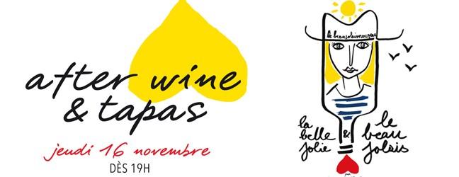 After Wine & Tapas – jeudi 16 novembre 2017
